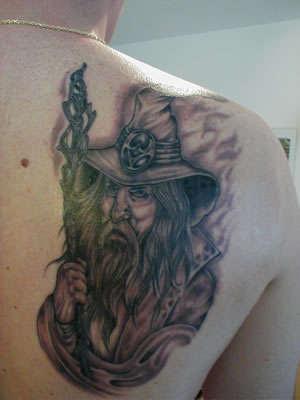 Cyclopeatron woah interesting wizard tattoo ya got there for Wizard tattoo designs