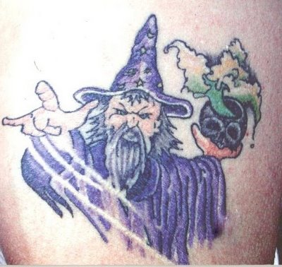 Woah! Interesting Wizard Tattoo Ya Got There!
