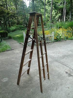 how to build a ladder shelf