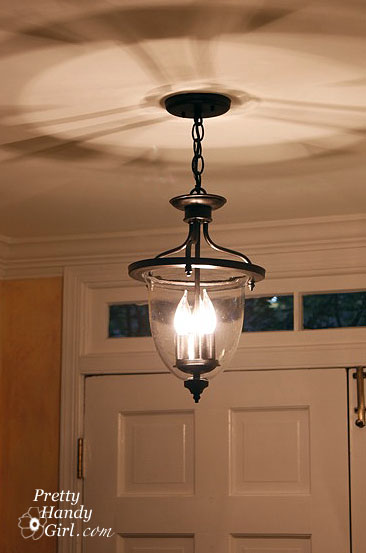 Foyer Ceiling Fixtures : A new old foyer light pretty handy girl