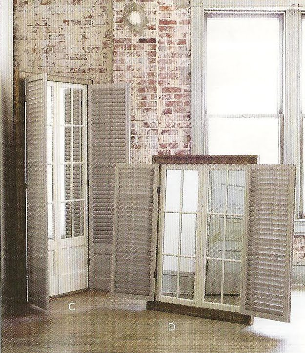 Window Panes: Window Pane Mirror With Shutters