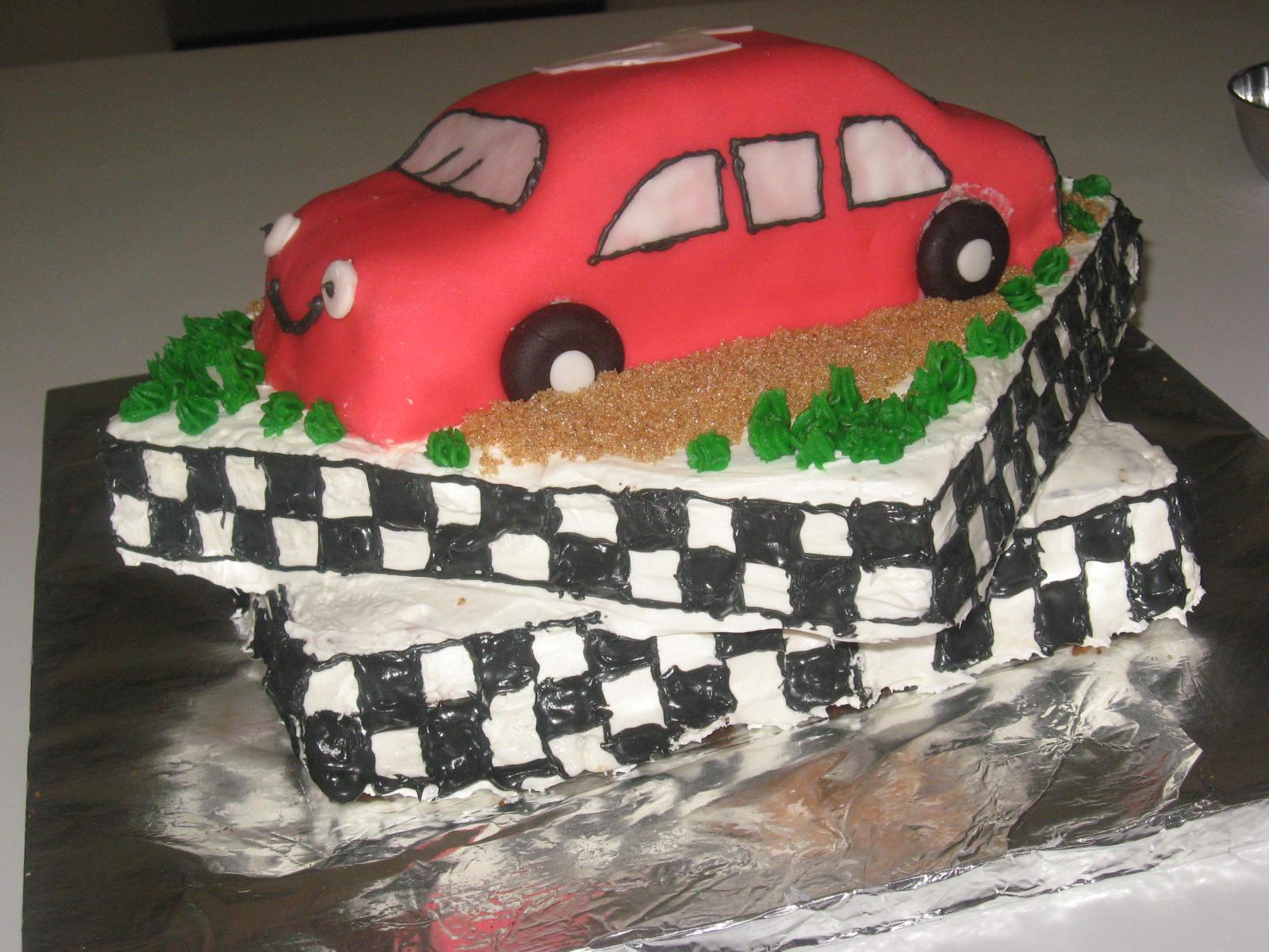 How To Make A Race Track Cake