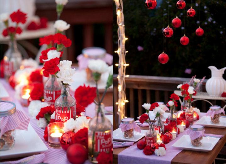 mariages r tro table de f te en rouge et blanc. Black Bedroom Furniture Sets. Home Design Ideas