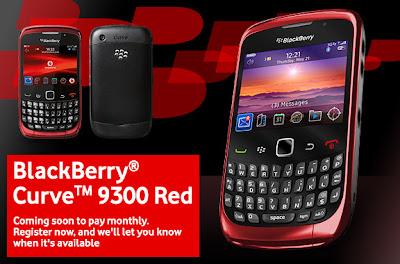 blackberry red 9300