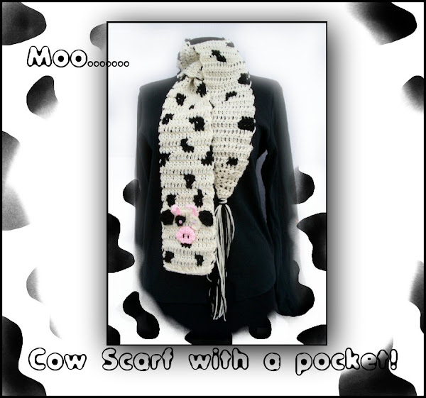 Daisy The Cow Crocheted Scarf