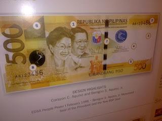 Cory Aquino Ninoy Aquino 500 Pesos