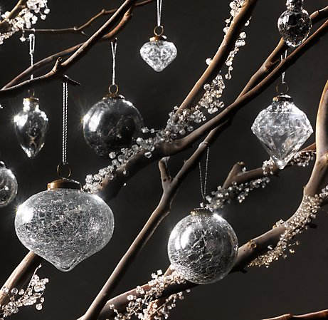 These vintage glass ornaments from Restoration Hardware are so stunningly  beautiful! - Interiorz Dezigned: Glamorous Christmas Decorations