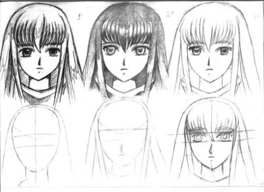 draw anime hairstyles. draw anime hairstyles. how to
