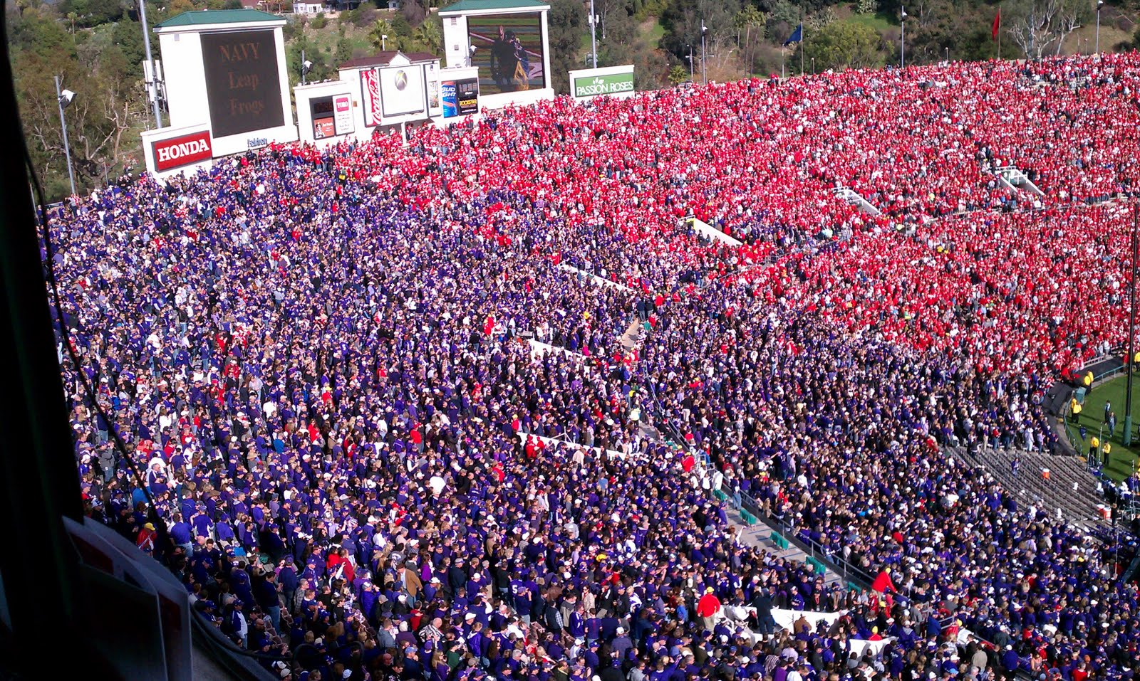 Frogs Win Rose Bowl over Wisconsin!!!