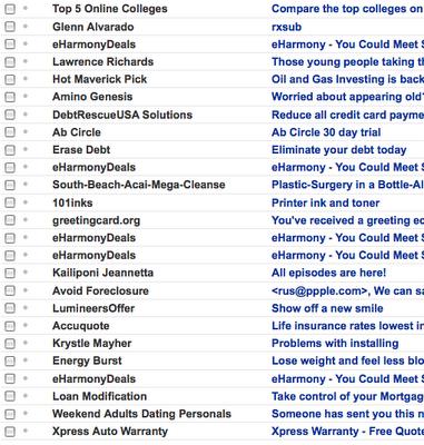 Eharmony mail not working