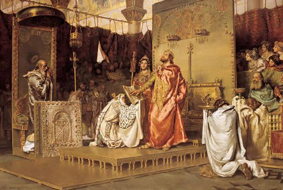 Matrimonio Imperio Romano : Paseando por la historia conversión de los visigodos al