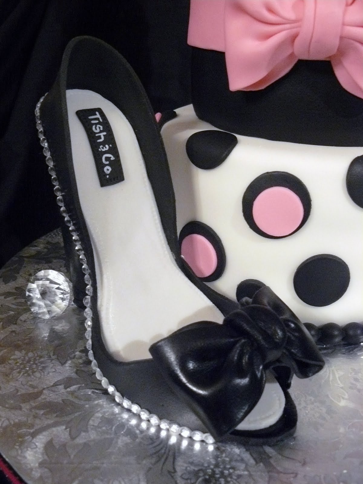 Karen Dreams Of Cake Does That Come In My Size Inside Heels Black Where Were Cakes Like This When I Turned 20 The Label Shoe Was Designed With Birthday Girl Mind It Is Her Name