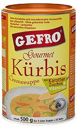 Gefro tökkrém-leves