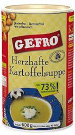 Gefro házias burgonyaleves és burgonya-püré