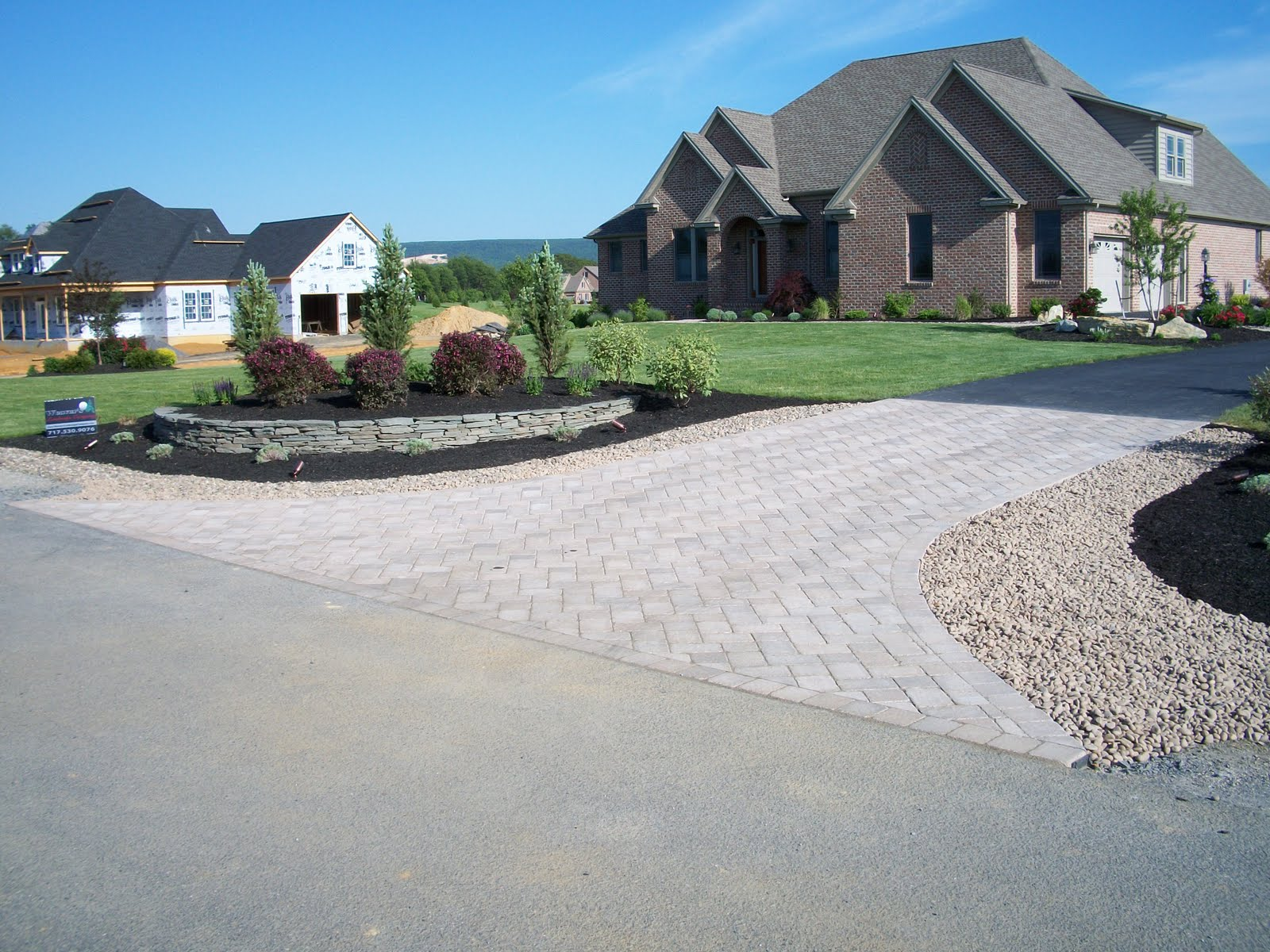 The blog of weavers landscape company paver driveway entrance for Driveway landscaping