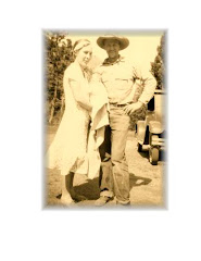 Russell and Minnie Blood, 1931, Sunlight WY, baby Louise