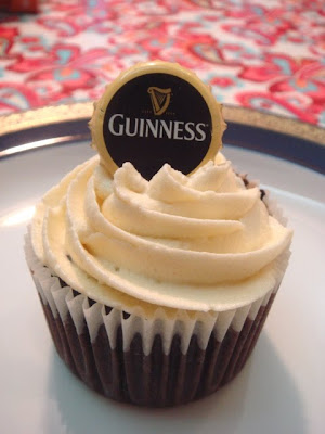 Sophie's Cupcake: Guinness Cupcake with Bailey Frosting