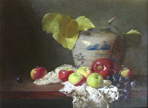 "Quast Gallery ""Still Life with Apples and Grapes"""
