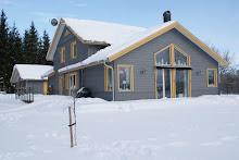 Vinterkort på vårt hus...