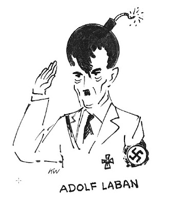 Adolph Hitler with a Bomb for a brain - cartoon by Kurt Westergaard