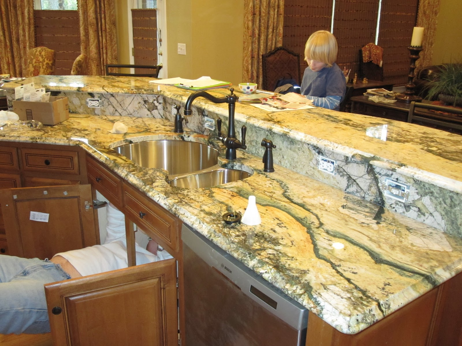 Cheeky Cognoscenti CD Volcano Kitchen Granite Installation A