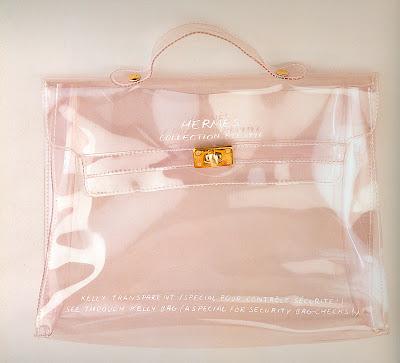 hermes bag transparent