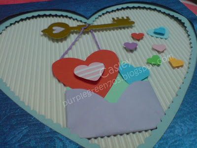 lock and key patterned love card valentine card