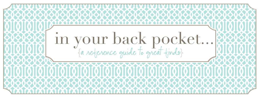 In your back pocket...