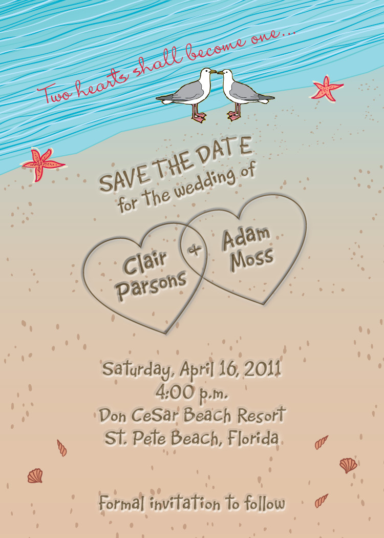 just your type design zazzle save the dates for beach wedding