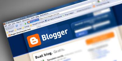 Halaman utama Blogger.com