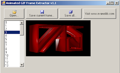 Animated GIF Extractor freeware utility screen