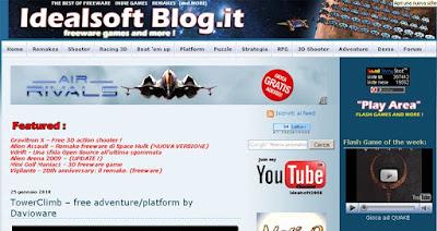 screenshot homepage idealsoftblog.it