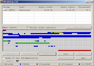 schermata UltraDefrag versione 4.3