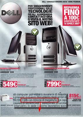 pubblicità Dell