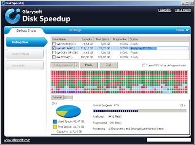 schermata GlarySoft SpeedUp