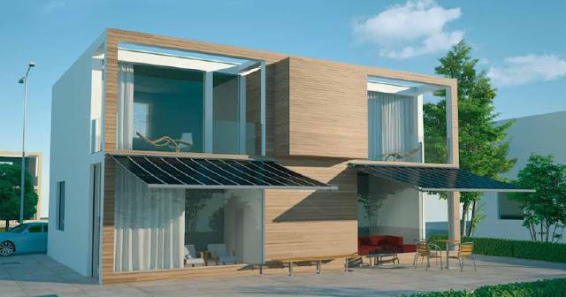 rendering tenda fotovoltaica Aurora