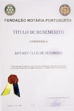 DIPLOMA DA FUNDAÇÃO ROTÁRIA PORTUGUESA