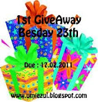 @17 feb : 1st GiveAway Besday 23rd