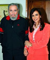 Cristina con Fidel