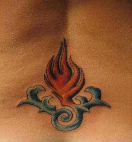 Labels: WATER INTO FIRE LOWER BACK TATTOO