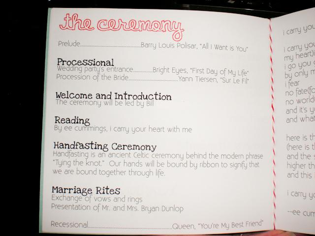 Page 3 listed the members of our wedding party