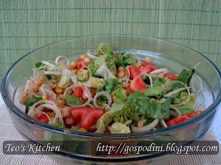 Articole culinare : Salata romana cu naut si praz