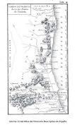 """En el """"ITINERARIO DESCRIPTIVO DE LAS PROVINCIAS DE ESPAÑA, Y DE SUS ISLAS Y . (lã¡mina del atlas del itinerario descriptivo de espaã±a )"""