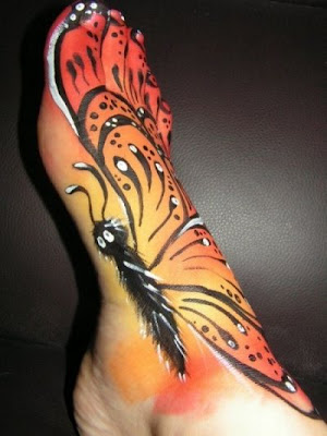 butterfly foot tattoos. tribal foot tattoos · Asian