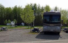 Parked at Chetwynd, British Columbia