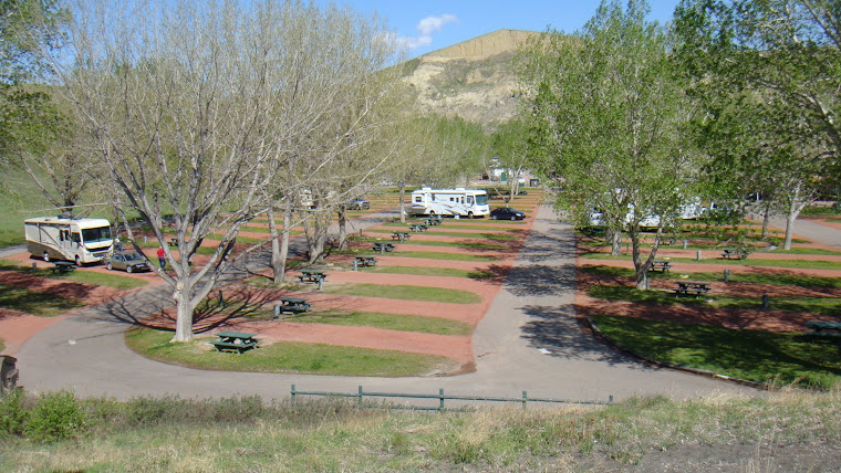 Overview of Bridgeview RV Resort in Lethbridge, Alberta