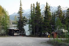 Both RVs Parked at Muncho Lake, BC