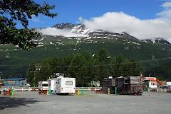 RV Parked In Valdez, Alaska