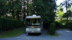 Parked at the Camperland RV Resort in Rosedale, BC