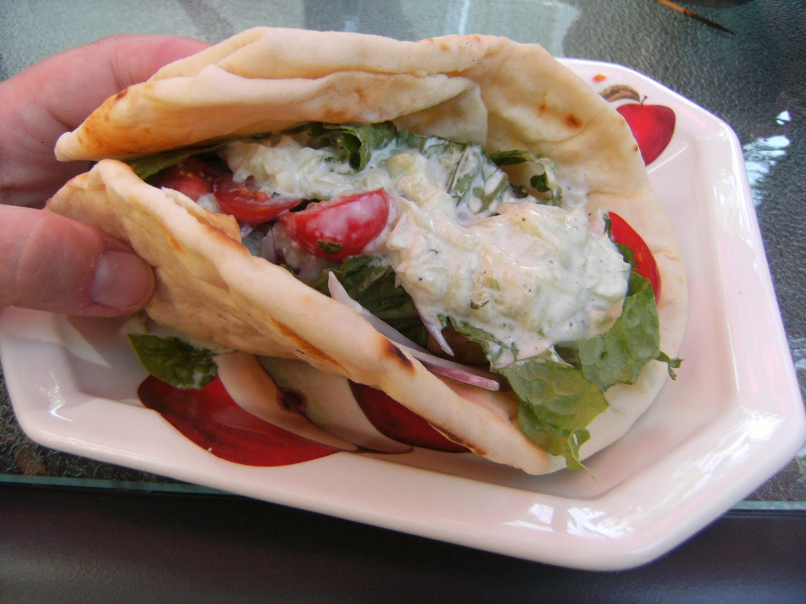 recipe: chicken souvlaki sandwich [15]